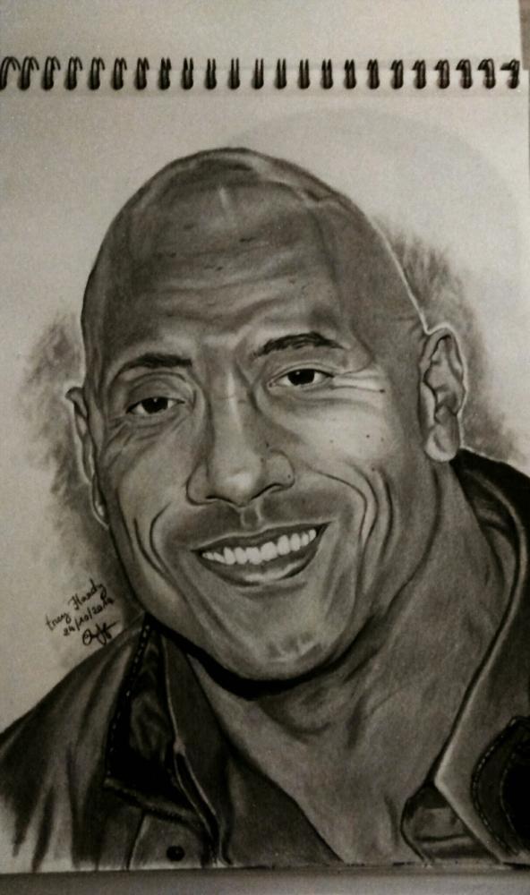 Dwayne Johnson by Tekeur